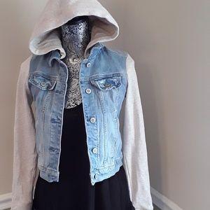 Hollister hoody jean jacket
